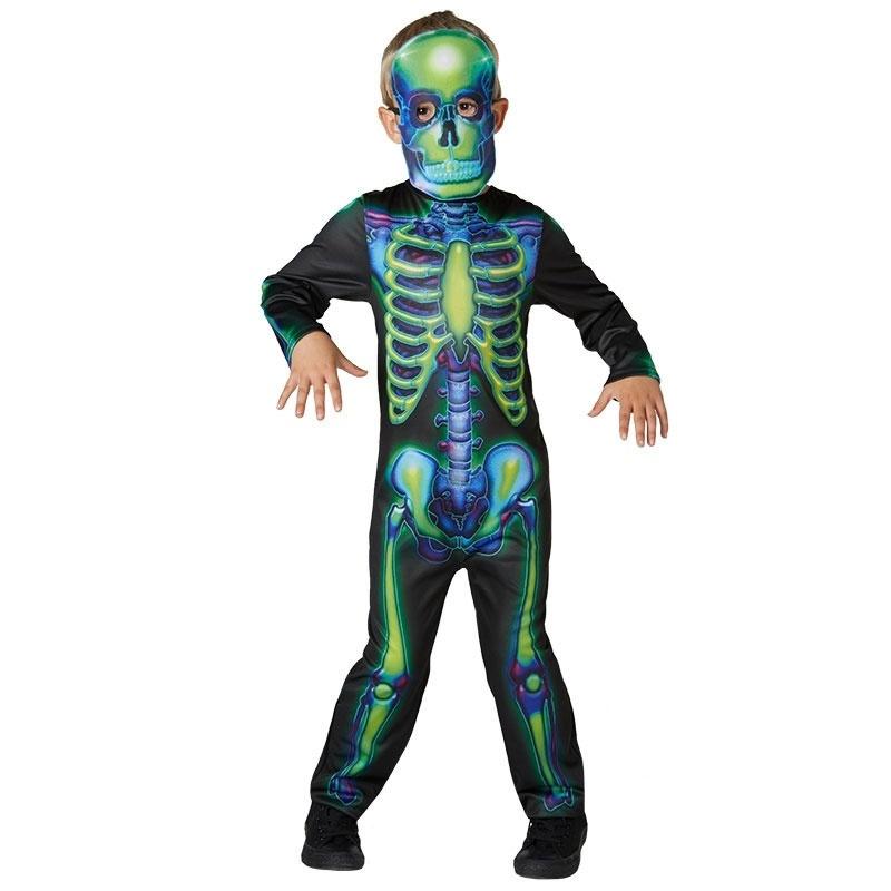 Kostüm Neon Skeleton L