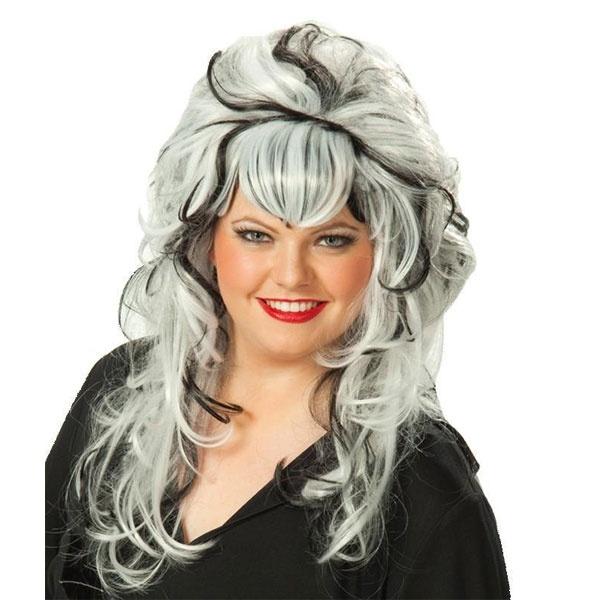 Kostüm-Zubehör Perücke Daria schwarz-weiß