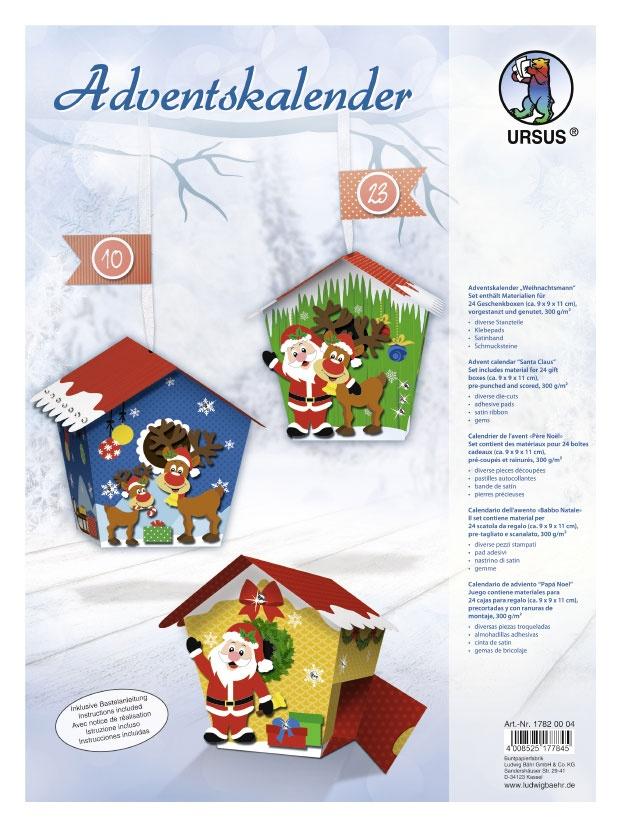 Adventskalender Weihnachtsmann zum Basteln