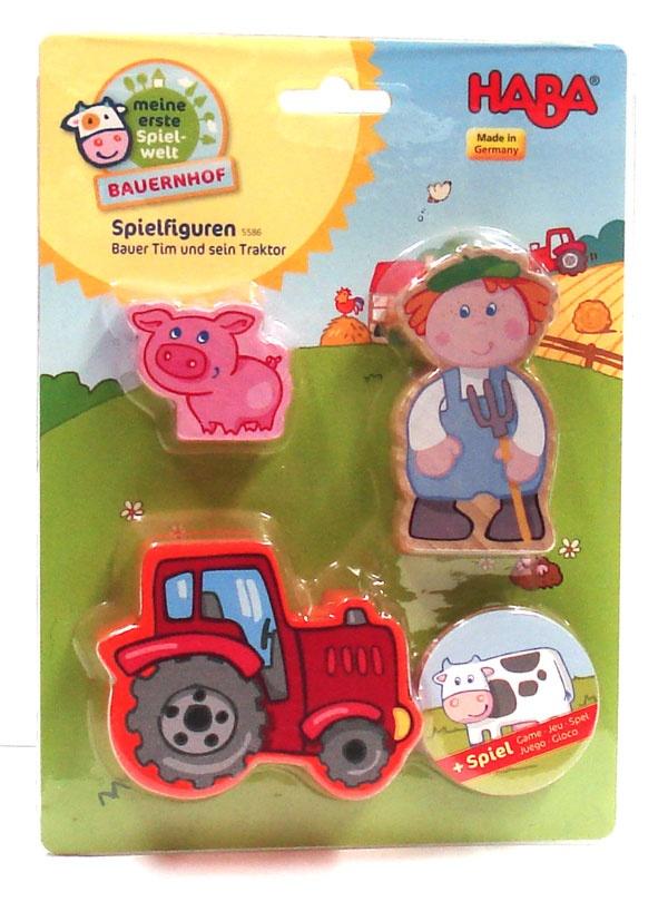 Haba Bauernhof Spielfiguren Bauer Tim und sein Traktor 5586