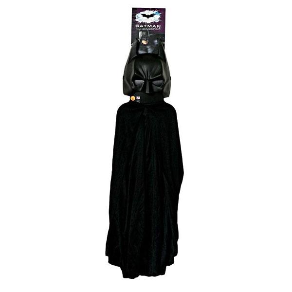Kostüm-Zubehör Batman Set schwarz one size