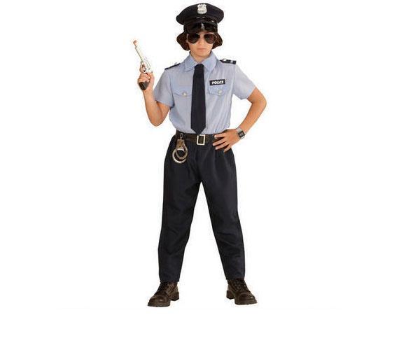 Kostüm Polizist hellblau Gr. 104