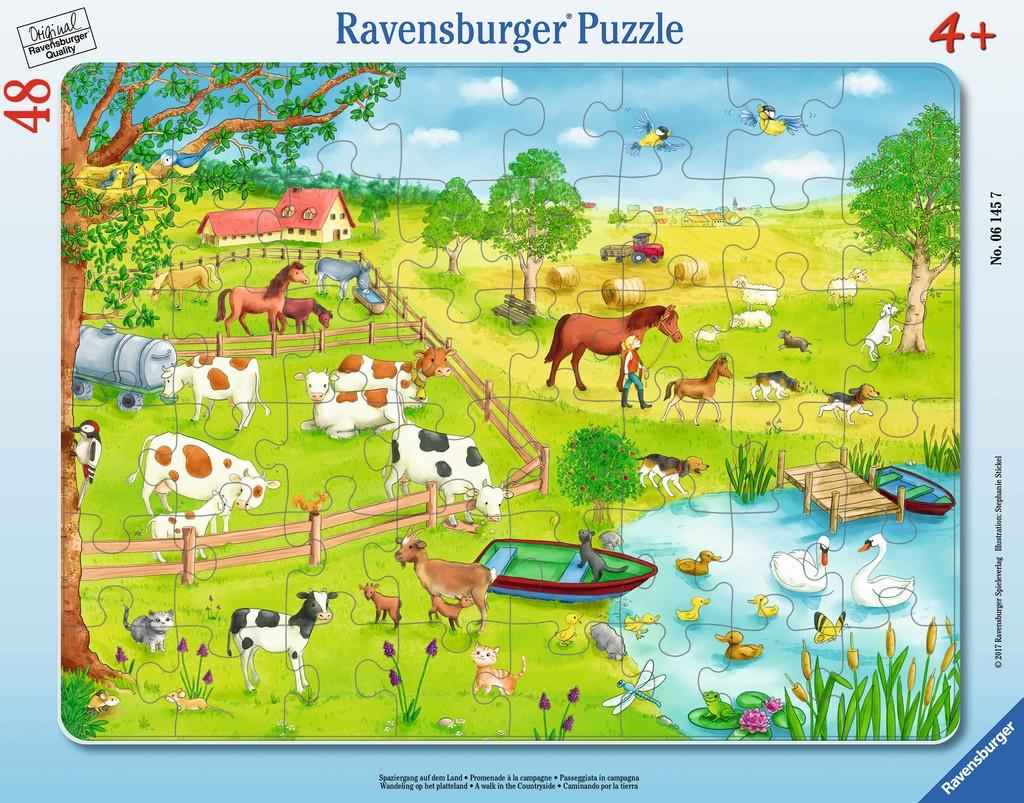 Ravensburger Rahmen-Puzzle Spaziergang auf dem Land
