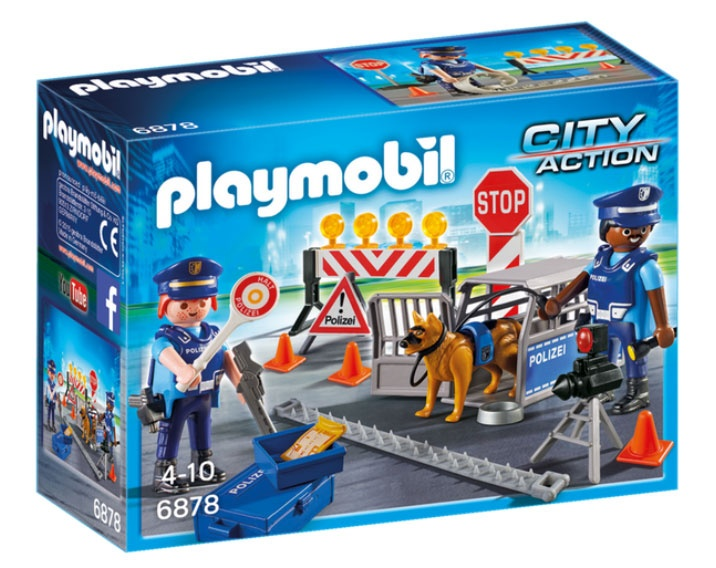 Playmobil 6878 City Action Polizei-Straßensperre