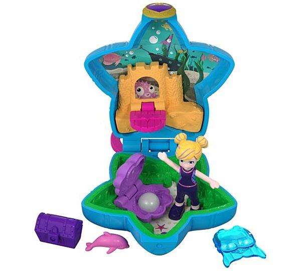 Polly Pocket Mini-Schatulle Aquarium FRY33 von Mattel