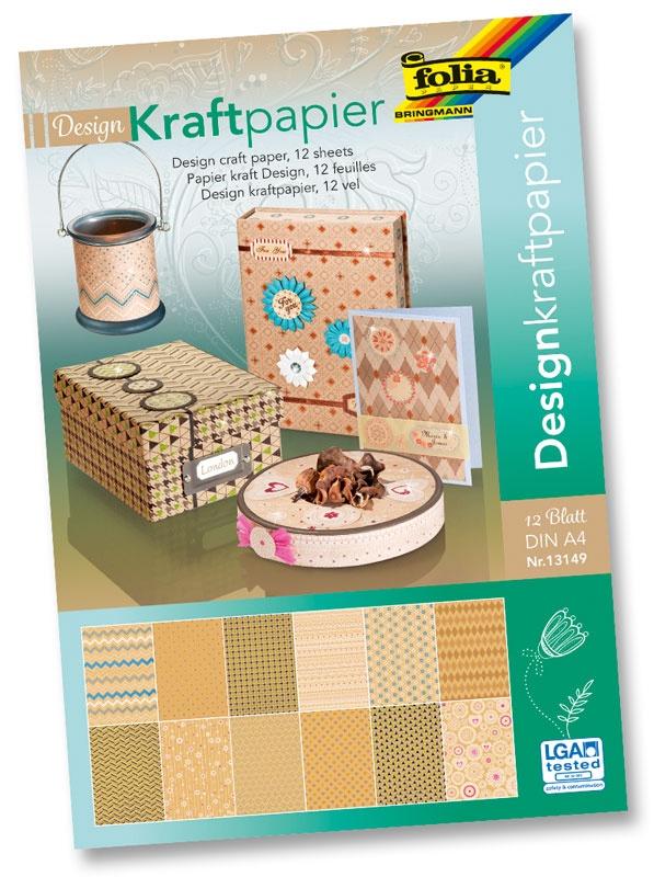 Folia Kraftpapierblock A4 12 Blatt