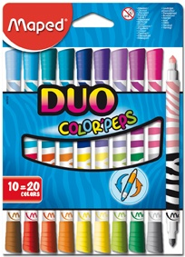 Maped Fasermaler Color´Peps Duo 10Stück/20Farben