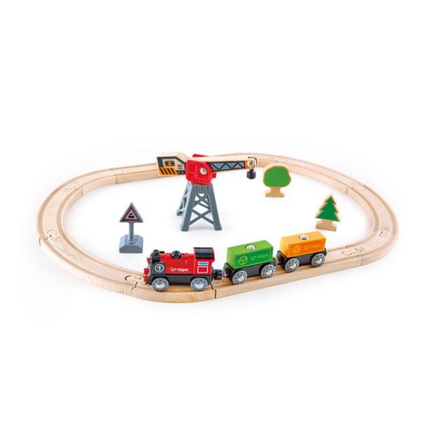 Hape Frachtlieferung Eisenbahn Kreis