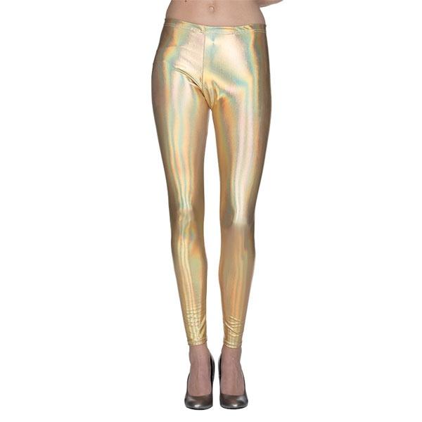 Kostüm-Zubehör Metallic Leggings gold