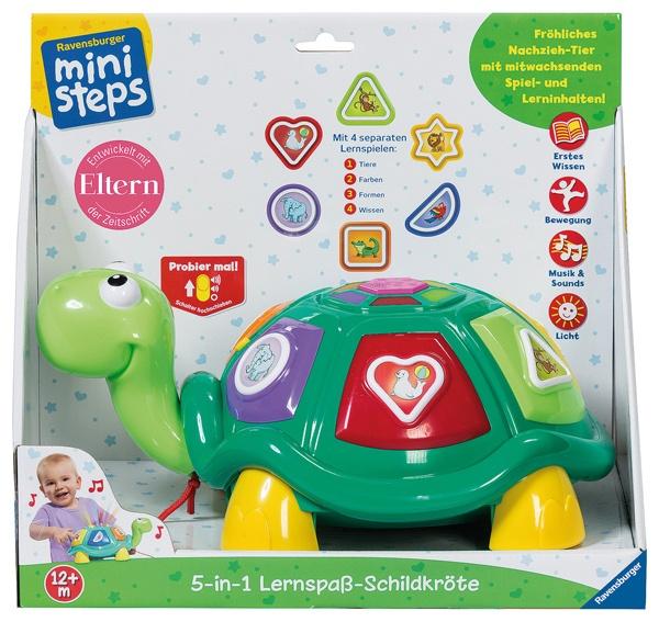 Ravensburger miniSteps 5in1 Lernspaß-Nachzieh-Schildkröte