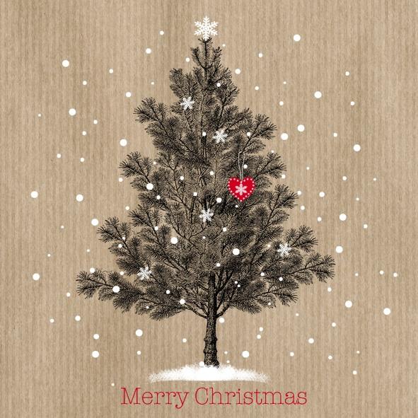 Servietten Vintage Merry Christmas