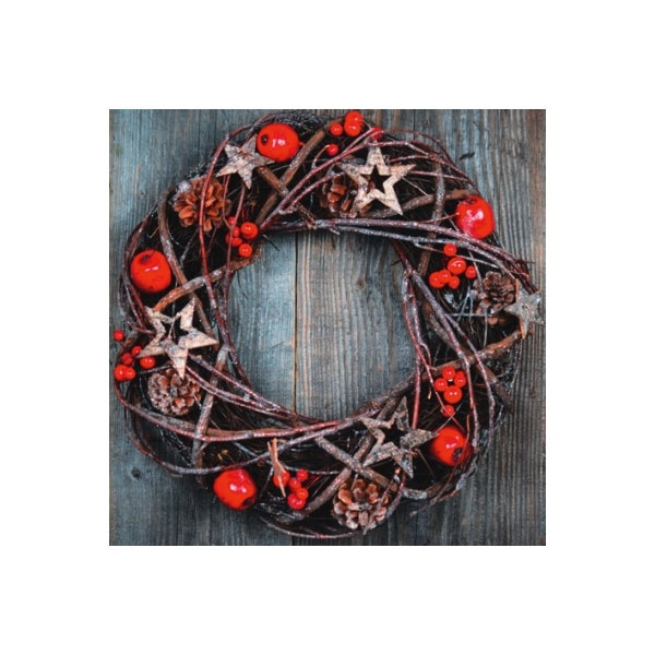 Servietten Weihnachten Natural Wreath