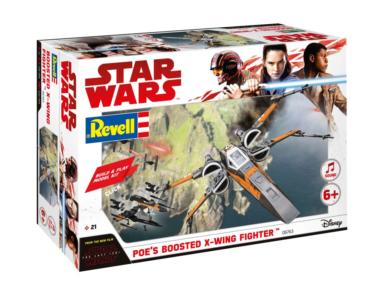 Revell 06763 Star Wars Build & Play Poes Boosted X-Wing Fig