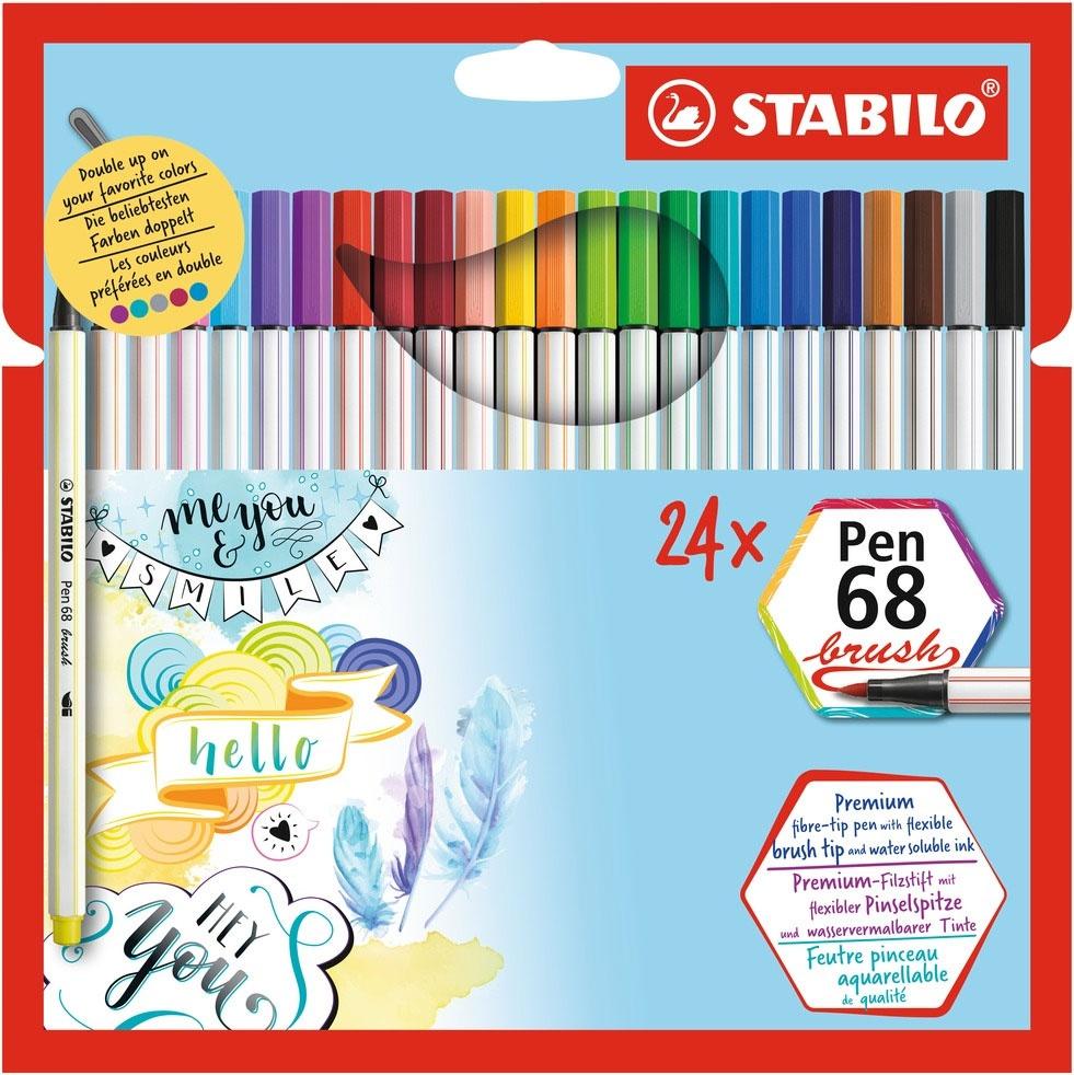 Stabilo Pen 68 brush 24 Stück Etui