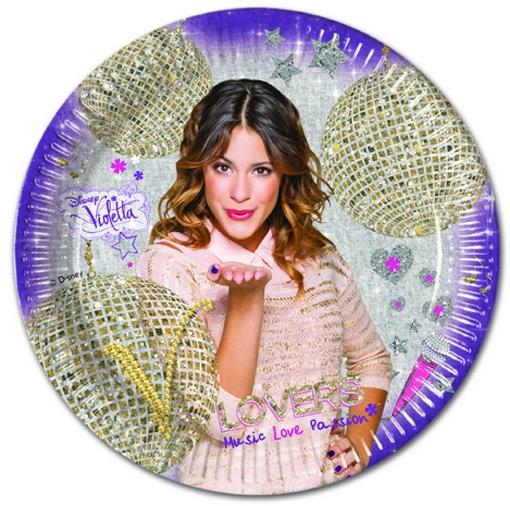 Violetta Gold Edition Partyteller 8 Stück 23 cm