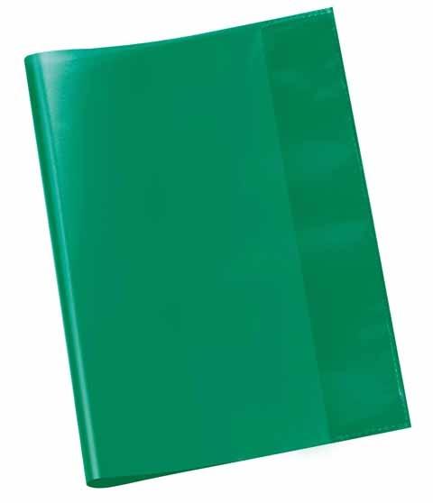 Hefthülle A5 grün transp.