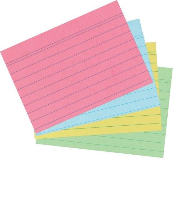 Karteikarten A7 farbig liniert 200 Stück