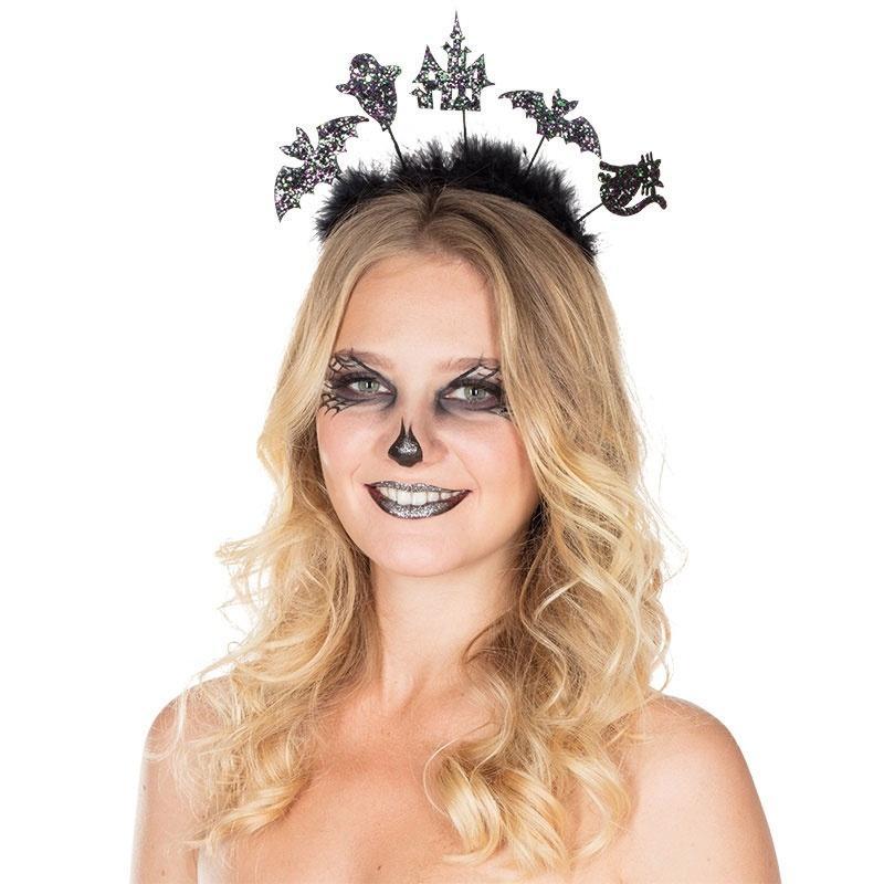 Glitzer Halloween Haarreif