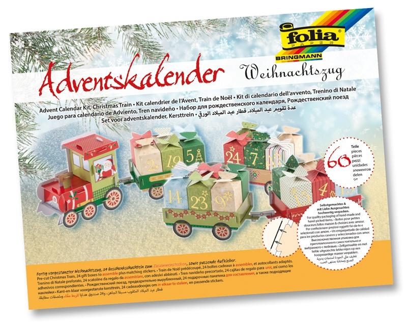 Folia Adventskalender Weihnachtszug
