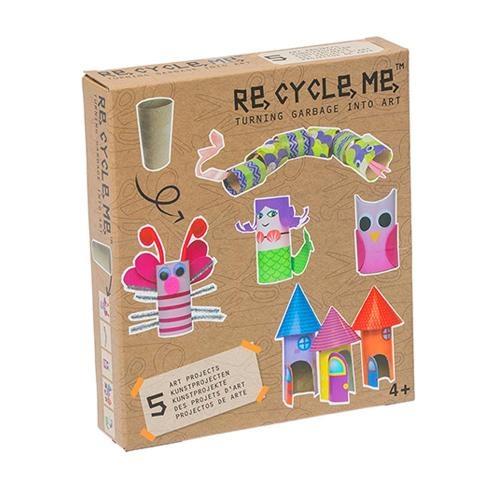 Re-Cycle-Me Bastelbox Basteln mit Papprolle für Mädchen
