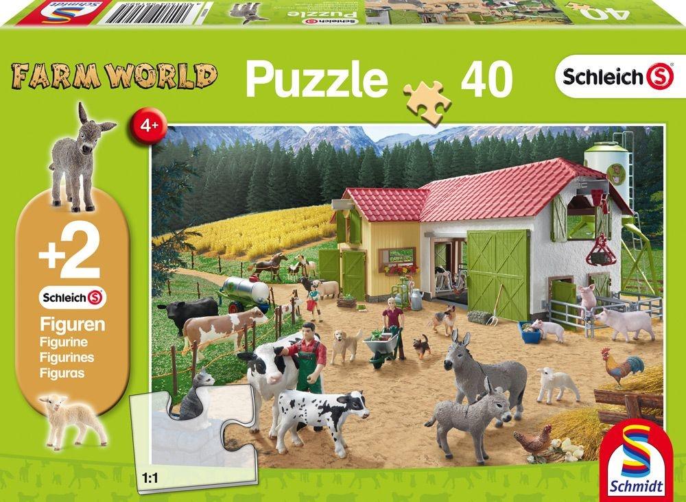 Schmidt Spiele Puzzle Schleich Ein Tag auf dem Bauernhof