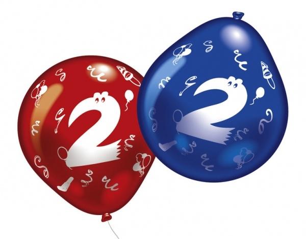 Luftballons mit Zahl 2 10 Stück