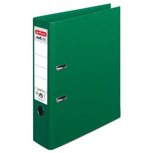 Ordner A4 max.file protect grün 8 cm von Herlitz