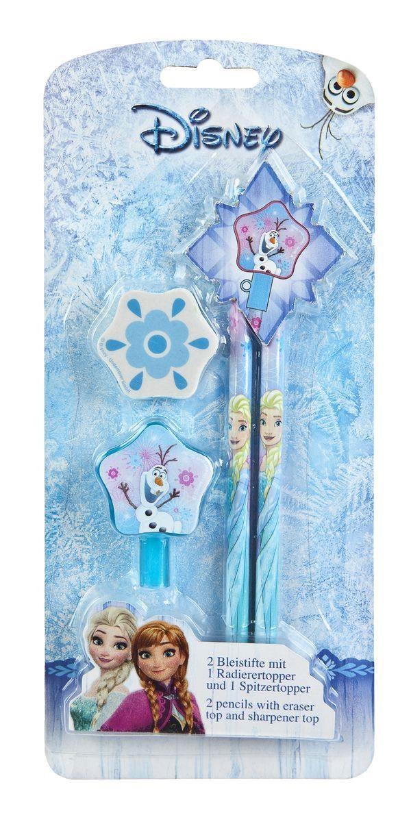 Frozen Bleistifte mit Radierer 2Stck.