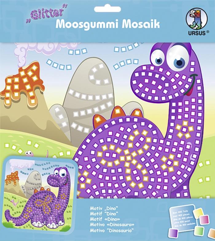 Moosgummi Mosaik Glitter Dino