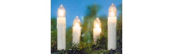 LED Lichterkette 20er Schaftkerzen warmweiß für Innen