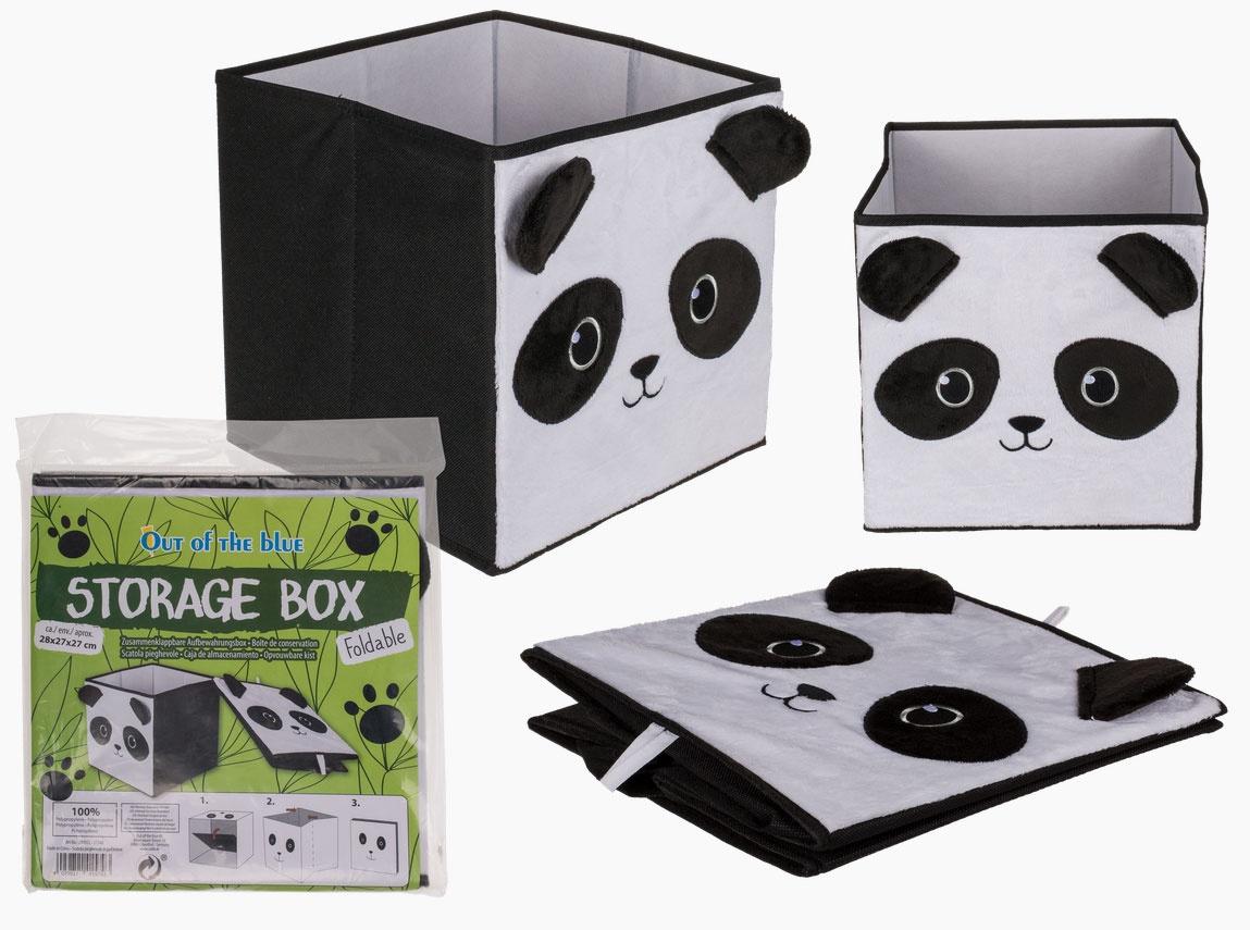 Aufbewahrungsbox Panda aufklappbar