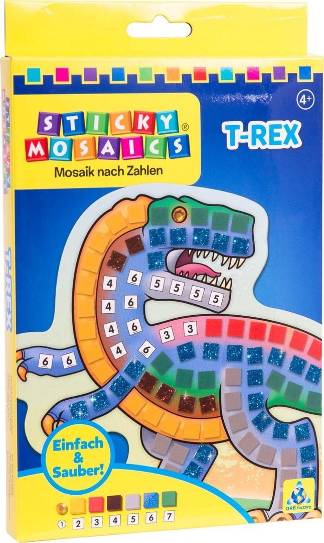 Bastelset Sticky Mosaik nach Zahlen T-Rex