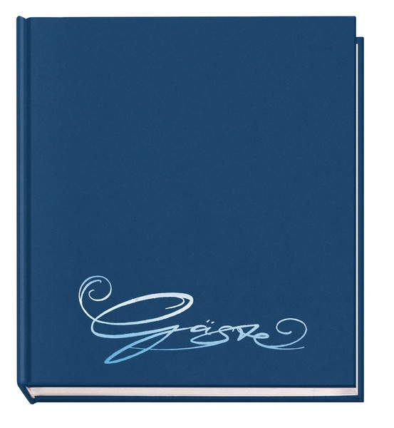 Gästebuch Classic blau mit Prägung