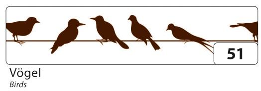 Folia Washi Tape Klebeband Vögel