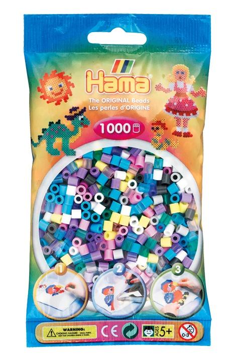 Hama Bügelperlen 1000 Stück Mix aus 11 Farben