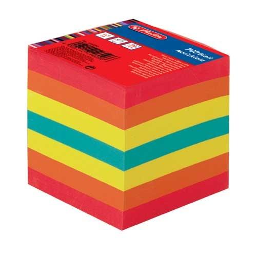 Notizklotz farbig 9 x 9 x 9 cm 700 Blatt von Herlitz