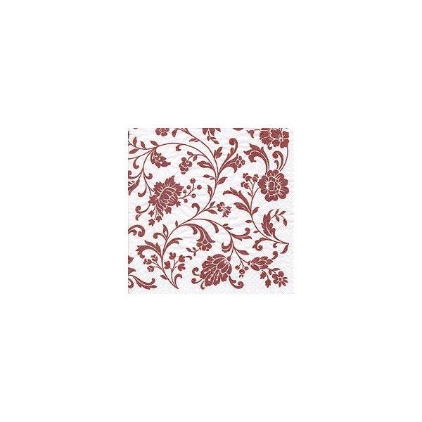 Servietten Arabesque white copper-white 33x33