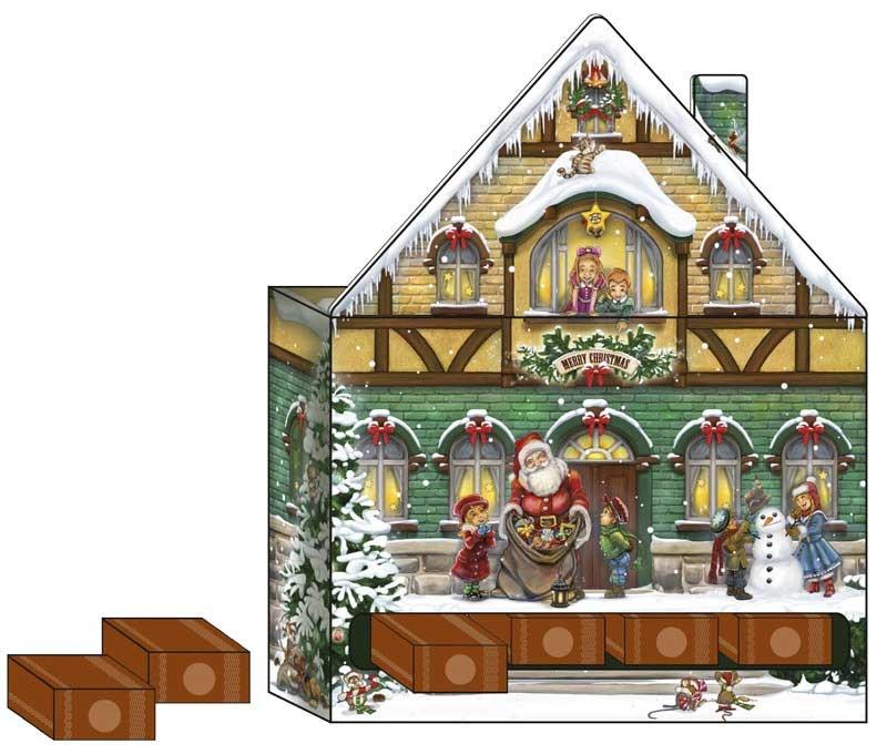 Roth Adventskalender Weihnachtshaus zum Befüllen