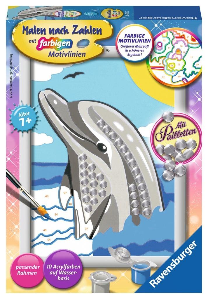 Ravensburger Malen nach Zahlen Delfin