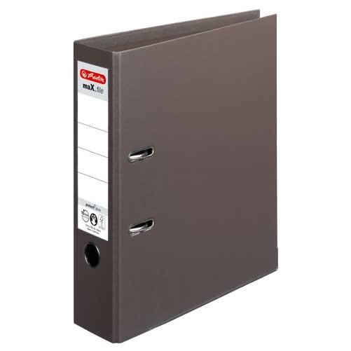 Ordner A4 max.file protect braun 8 cm von Herlitz