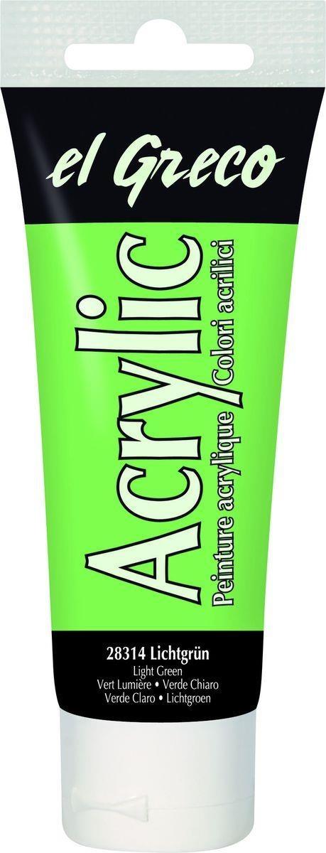 El greco Acrylic Acrylfarbe Lichtgrün 75  ml