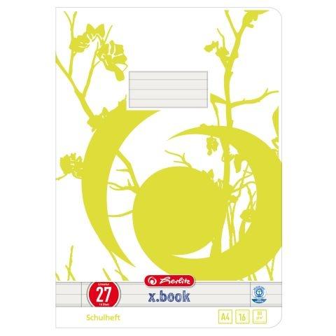 Herlitz Schulheft A4 Lineatur 27 Recycling Papier