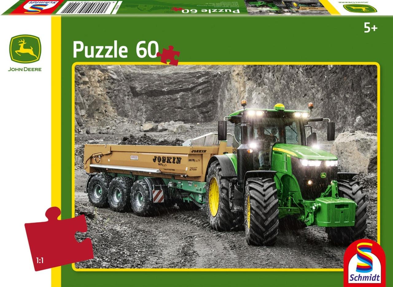Schmidt Spiele Puzzle John Deere Traktor 7310R 60 Teile
