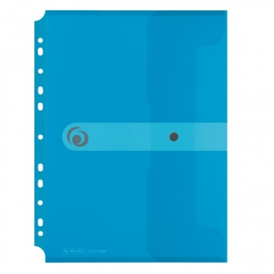 Herlitz Dokumententasche easy ergo to go A4 transparent blau