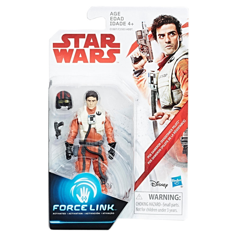 Star Wars Episode 8 Force Link Figur Poe Dameron