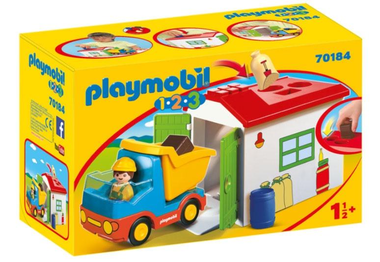 Playmobil 70184 1.2.3 LKW mit Sortiergarage