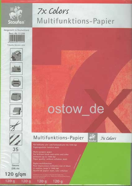 Multifunktionspapier 120g Kopierpapier hellgrün