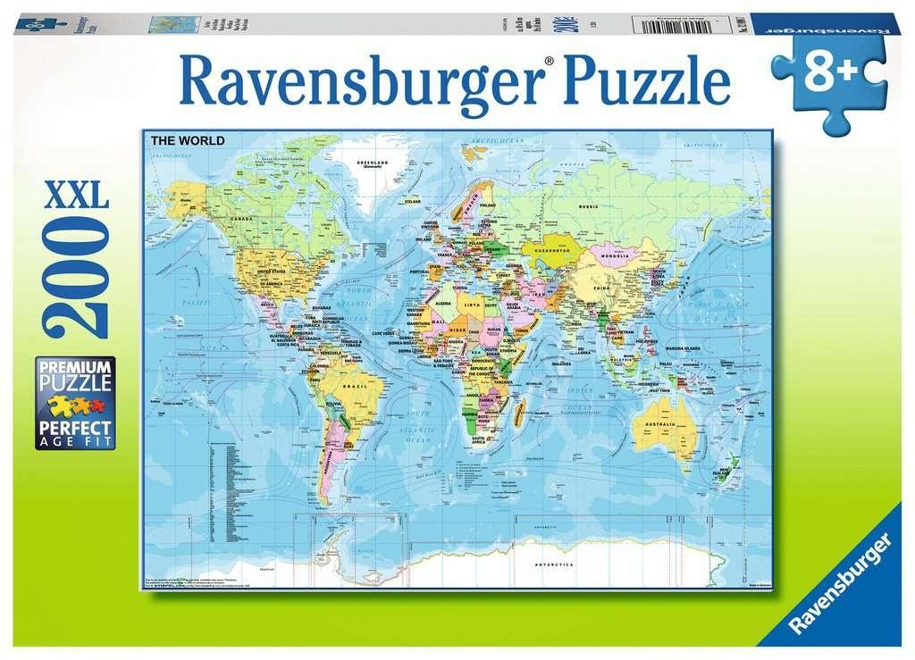 Ravensburger Puzzle Die Welt 200 Teile XXL
