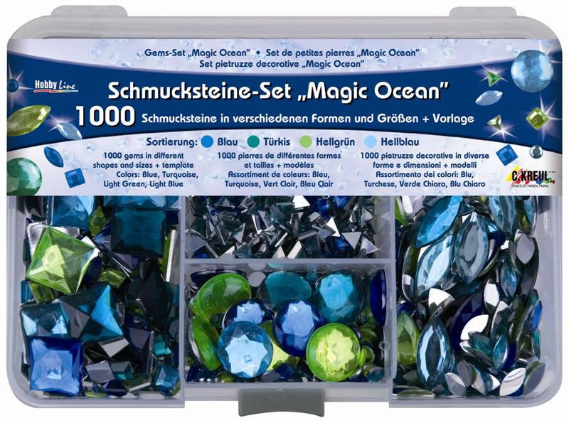 Hobby Line Schmucksteine-Set Magic Ocean