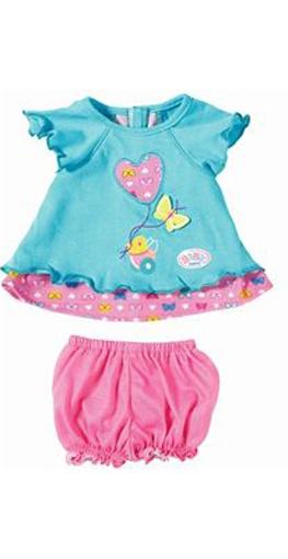 Baby born Babykleidchen Schmetterling, blau